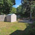 rear garden, patio and shed